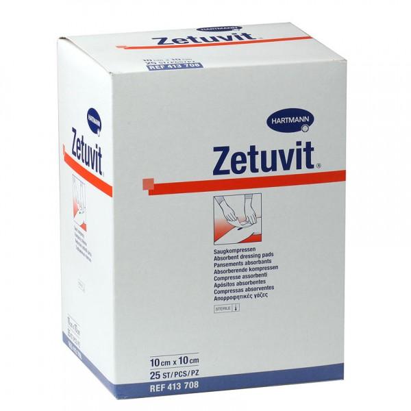Zetuvit Saugkompressen Steril 10x10 cm