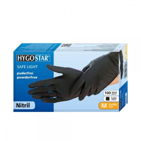 "Nitril-Handschuhe ""SL"" | PF - Gr.M - 100stk -schwarz"
