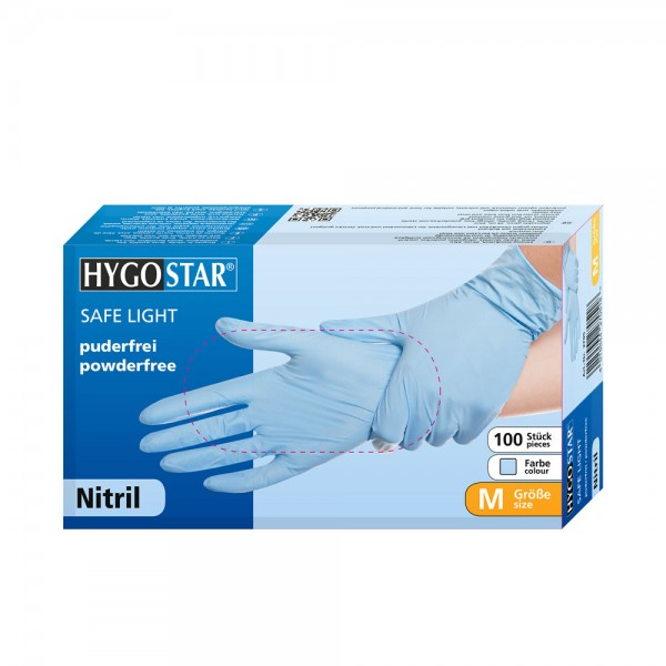 "Nitril-Handschuhe ""SL"" | PF - Gr.M - 100stk - blau"