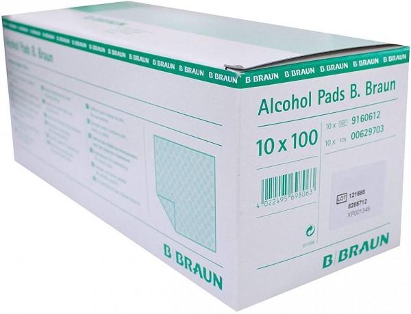 Alcohol Pads B. Braun (Alkoholtupfer) - 10 x 100 Stück