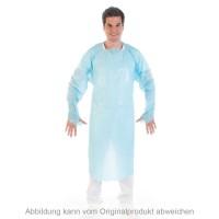 Untersuchungskittel mit Daumenloch | CPE Blau XL 115cm 22 my