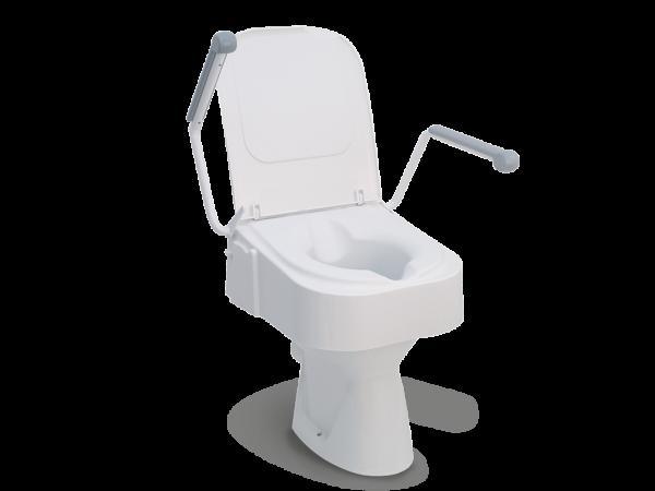 Toilettensitzerhöhung TSE 150 mit Deckel und Armlehnen