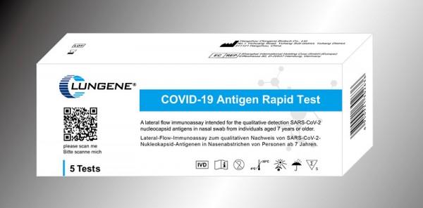 CLUNGENE Laien-Test COVID-19 Antigen Schnelltest - 5er Pack