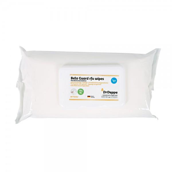Flächendesinfektionstuch BetaGuard RFU | Zellulose 80 Stk/Pkg Weiß